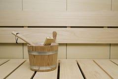 Interior de la sauna Fotografía de archivo libre de regalías