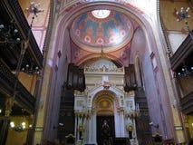 Interior de la sinagoga fotografía de archivo libre de regalías