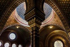 Interior de la sinagoga española, Praga - República Checa foto de archivo libre de regalías