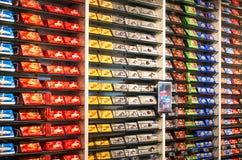 Interior de la tienda del chocolaterie de Cailler Fotos de archivo