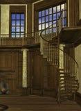 Interior de la torre de un mago ilustración del vector