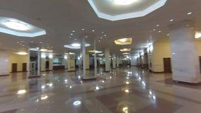 Interior de Lomonosovsky de construção novo da universidade estadual de Moscou video estoque