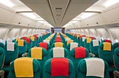 Interior de los aviones Imagen de archivo libre de regalías