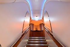 Interior de los aviones Imágenes de archivo libres de regalías