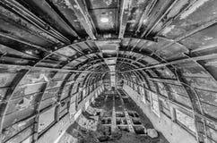Interior de los aviones Foto de archivo