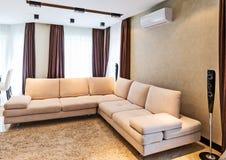 Interior de lujo de la sala de estar Foto de archivo libre de regalías