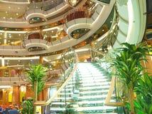 Interior de lujo del barco de cruceros Imágenes de archivo libres de regalías