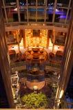 Interior de lujo del barco de cruceros Foto de archivo libre de regalías