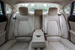 Interior de lujo del coche Foto de archivo