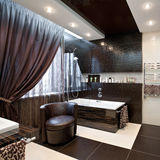 Interior de lujo del cuarto de baño imagen de archivo