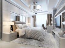 Interior de lujo del dormitorio stock de ilustración
