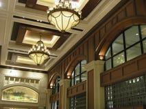 Interior de lujo del pasillo Fotos de archivo