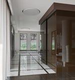 Interior de lujo del pasillo Imagen de archivo libre de regalías