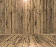 interior de madeira da sala 3D ilustração stock