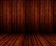 interior de madeira da sala 3D Fotografia de Stock Royalty Free