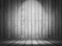 interior de madeira da sala 3D com luzes da exposição ilustração stock