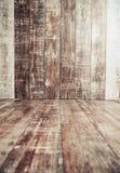 Interior de madeira do assoalho e da parede Foto de Stock Royalty Free