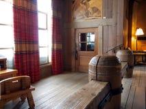 Interior de madeira do edifício Imagens de Stock Royalty Free