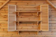 Interior de madera Foto de archivo libre de regalías