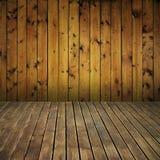 Interior de madera de la textura de la vendimia Foto de archivo libre de regalías