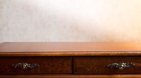 Interior de madera del dest Imagenes de archivo