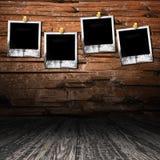 Interior de madera del sitio de Grunge Fotografía de archivo libre de regalías