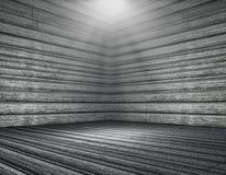 interior de madera del sitio del grunge 3D Fotografía de archivo libre de regalías