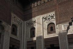 Interior de Madrasa Bou Inania em Meknes, Marrocos Fotografia de Stock Royalty Free