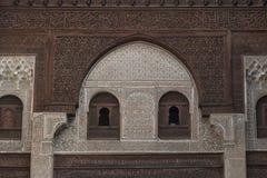 Interior de Madrasa Bou Inania en Meknes, Marruecos Fotos de archivo