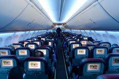 Interior de Malaysia Airlines Boeing 737 Fotografia de Stock