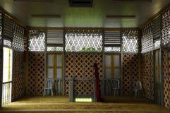 Interior de Masjid Ihsaniah Iskandariah em Kuala Kangsar Imagens de Stock