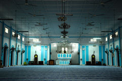 Interior de Masjid Jamek Dato Bentara Luar em Batu Pahat, Johor, Malásia Imagem de Stock Royalty Free
