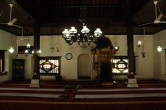 Interior de Masjid Kampung Hulu en Malaca, Malasia Fotografía de archivo