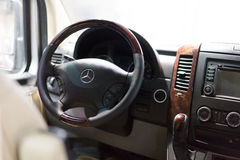 Interior de Mercedes Benz imagens de stock