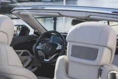 Interior de Mercedes-Benz Convertible Fotos de archivo libres de regalías