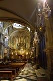 Interior de Montserrat Basilica, España Imagen de archivo libre de regalías