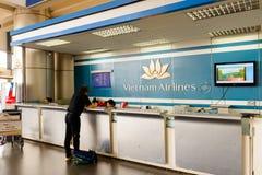 Interior de Noi Bai International Airport Foto de Stock Royalty Free