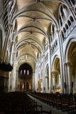 Interior de Notre Dame de la catedral en Lausanne Imágenes de archivo libres de regalías