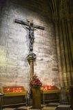 Interior de Notre Dame imágenes de archivo libres de regalías