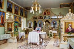 Interior de Nside da igreja ortodoxa Imagens de Stock Royalty Free