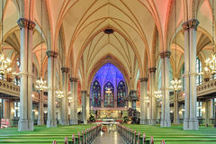 Interior de Oscar Fredrik Church em Gothenburg, Suécia Fotografia de Stock Royalty Free