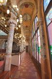 Interior de Palau de la Musica, Barcelona, España, 2014 foto de archivo
