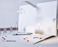 Interior de papel stock de ilustración