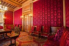 Interior de Pau Castle (castillo francés de Pau), Francia imagenes de archivo
