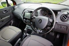 Interior de Renault CAPTUR o 21 de maio de 2014 em Hong Kong Imagens de Stock