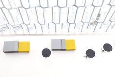 Interior de reykjavik Islândia da sala de concertos de Harpa, Reykjavik, Islândia, 2014 foto de stock