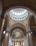 Interior de Sacre Coeur Imagen de archivo