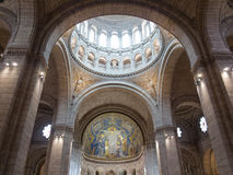 Interior de Sacre Coeur Imagem de Stock