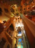 Interior de Sagrada Familia Foto de archivo libre de regalías