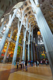 Interior de Sagrada Familia Imagem de Stock Royalty Free